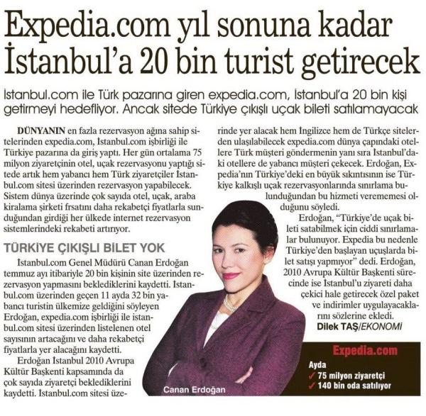Expedia istanbul.com ile Türkiye'de